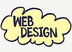 WEB DESIGNのロゴ></p> <div class=